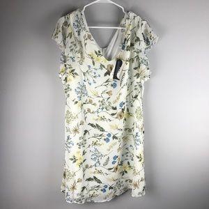 NWT Miss Molly white floral shift dress chiffon XL